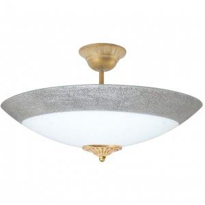 Светильник 30140 Мираж НББ 3х60 Вт Е27 d=400 серебро люстра