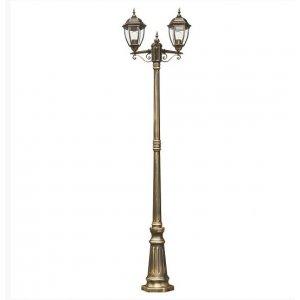 Светильник парковый QMT 21276SЕ Dallas II старое золото