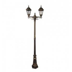 Светильник парковый QMT 21311E Dallas I старое золото