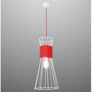 ImperiumLight 84150.01.16 Corset подвесной светильник, белый, красный провод, E27