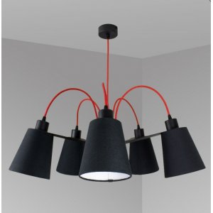 ImperiumLight 66570.16.05 Helsinki, подвес красный/черный, Е 27, 5 ламп