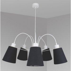 ImperiumLight 66570.01.05 Helsinki, подвес белый/черный, Е 27, 5 ламп
