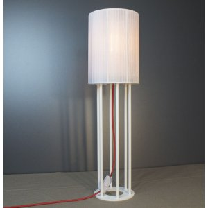 ImperiumLight 113165.01.16 Dubai, настольная лампа, цвет белый/красный, Е27, 60 Вт.