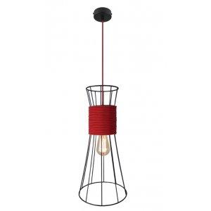 ImperiumLight 84150.05.16 Corset подвесной светильник, черный, красный провод, E27