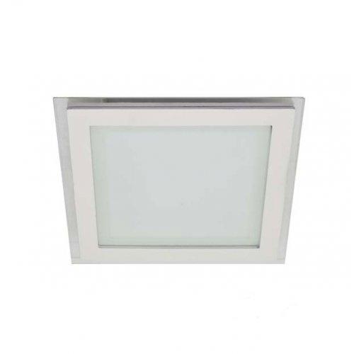 Led панель LM435 6w 400lm 4500k квадрат + стекло