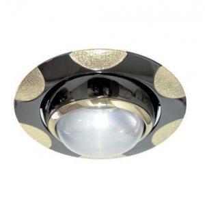 Врезной светильник AL8176 чёрный(золото) - золото R50  /156