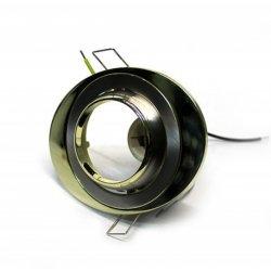 Врезной светильник AL8182 чёрный (графит) - золото R50 / овал  108