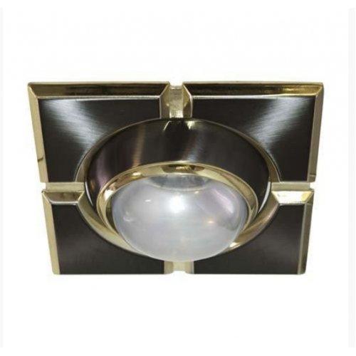 Врезной светильник AL8186 титан - золото R50  / квадрат 098-S