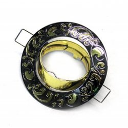 Врезной светильник DL2005 черный металик- золото