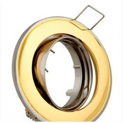 Врезной светильник DL81 золото - хром mr16 /301