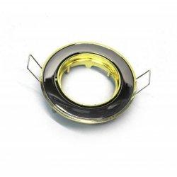 Врезной светильник DL81 чёрный (графит) - золото mr16  /301