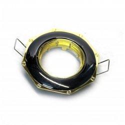 Врезной светильник DL83 чёрный (графит) - золото mr16  /305