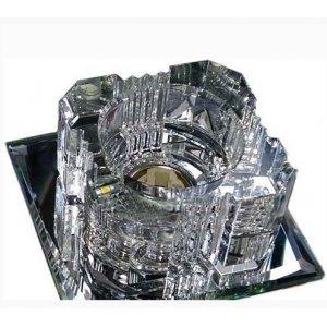 Точечный светильник ST103 прозрачный-серебро G9 35w + 6штук smd2835 4000К с драйвером