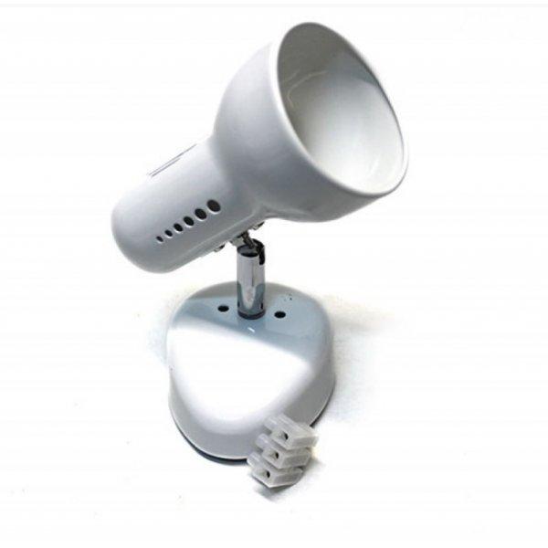 Светильник RAD поворотный ST191-1 75w R63 E27 металл без выкл. / белый