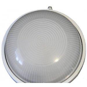 Герметичный светильник BL-1301 круг метал. 60w без реш. белый