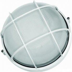 Герметичный светильник BL-1302 круг метал. 60w с реш. белый