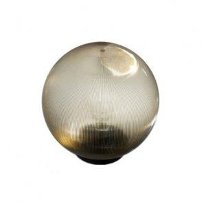 Шар светильник PL2102 диаметр 150 золотой призматический макс. 25w  + база с E27