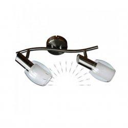 Светильник направленного света ST137-2 двойной E14 / 9w матовый хром