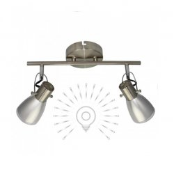 Светильник направленного света ST184-2 двойной E14 / 9w матовый хром