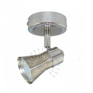 Светильник направленного света ST186-1 одинарный GU10 / 50w матовый хром
