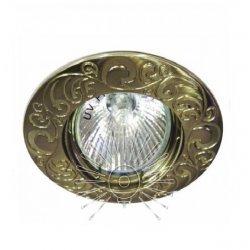 Врезной светильник DL2005 античное золото MR16