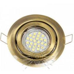 Врезной светильник DL3205 MR16 античное золото