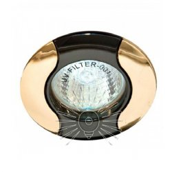 Врезной светильник DL80 чёрный (графит) - золото mr16  /020