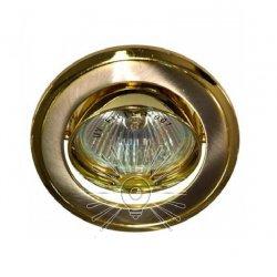 Врезной светильник DL81 титан - золото mr16 /301