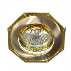 Врезной светильник DL83 золото - хром mr16 /305
