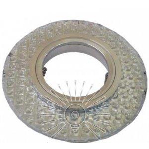 Точечный светильник ST219 прозрачный MR16 + подсветка 3w 6500k с драйвером