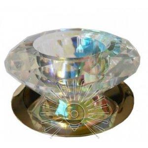 Точечный светильник ST122 золото (multi color crystal) G4