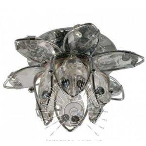 Точечный светильник ST132 цветочек прозрачный-хром G9