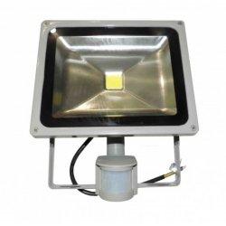 Прожектор led LMPS14 10w 6500k ip65 550lm 100-265v с датчиком серый