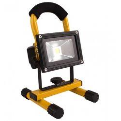 Прожектор светодиодный LMP8-10 аккум. 10w 6500k ip65 6500lm жёлтый