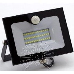Прожектор светодиодный LMPS15 10w 6500k ip65 800lm со встроенным датчиком чёрный