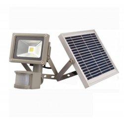 Прожектор светодиодный LMP9-50 cолнечная батарея + акку 50w д/движ. COB ip65 4000LM