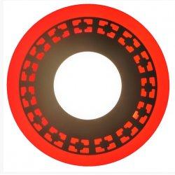 Точечный светильник LM554 Кубики 3+3w с красной подсветкой 350lm 4500k 175-265v круг