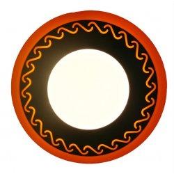 Точечный светильник LM534 Завитки 3+3w с жёлтой подсветкой 350lm 4500k 175-265v круг