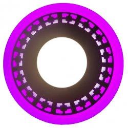 Точечный светильник LM546 Кубики 12+6w с розовой подсветкой 1080lm 4500k 175-265v круг