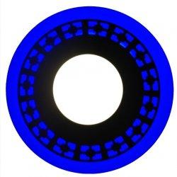 Точечный светильник LM546 Кубики 12+6w с синей подсветкой 1080lm 4500k 175-265v круг