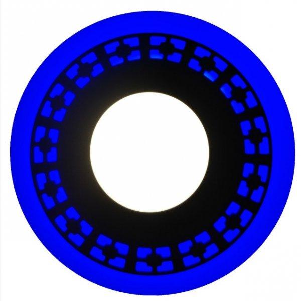 Точечный светильник LM541 Кубики 6+3w с синей подсветкой 540lm 4500k 175-265v круг