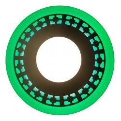 Точечный светильник LM546 Кубики 12+6w с зелёной подсветкой 1080lm 4500k 175-265v круг
