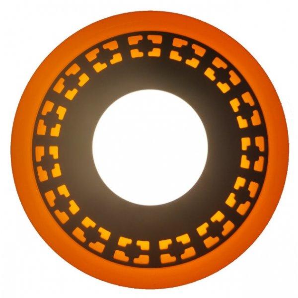 Точечный светильник LM554 Кубики 3+3w с жёлтой подсветкой 350lm 4500k 175-265v круг