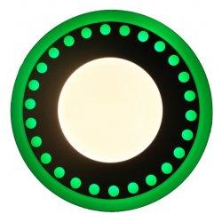Точечный светильник LM547 Точечки 12+6w с зелёной подсветкой 1080lm 4500k 175-265v круг