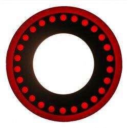 Точечный светильник LM537 Точечки 3+3w с красной подсветкой 350lm 4500k 175-265v круг