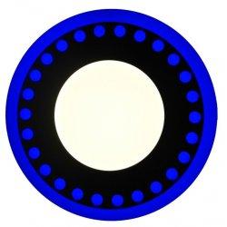Точечный светильник LM547 Точечки 12+6w с синей подсветкой 1080lm 4500k 175-265v круг