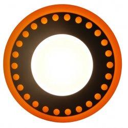 Точечный светильник LM557 Точечки 18+6w с синей подсветкой 1440lm 4500k 175-265v круг