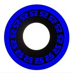 Точечный светильник LM543 Грек 12+6w с синей подсветкой 1080lm 4500k 175-265v круг