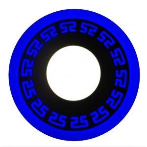 Точечный светильник LM533 Грек 3+3w с синей подсветкой 350lm 4500k 175-265v круг