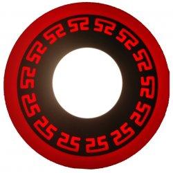 Точечный светильник LM533 Грек 3+3w с красной подсветкой 350lm 4500k 175-265v круг